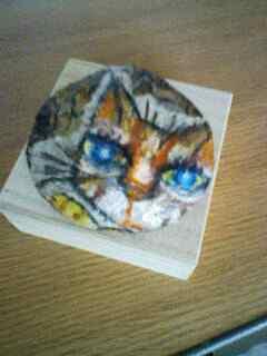 猫石アート